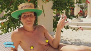 French presenter tests a nudist camp naked